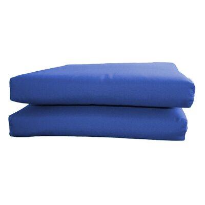 Outdoor Sunbrella Seat Cushion Fabric: Canvas True Blue