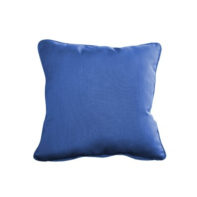 Outdoor Sunbrella Throw Pillow Size: 20 H x 20 W, Color: Canvas True Blue