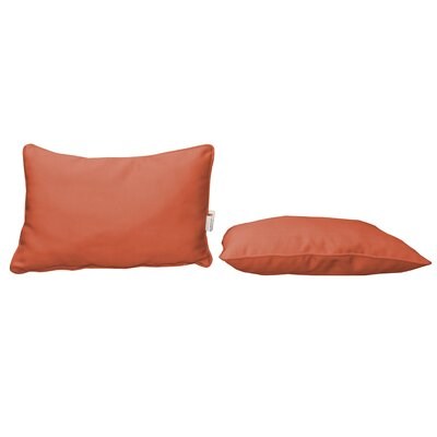 Outdoor Sunbrella Lumbar Pillow Color: Canvas Melon