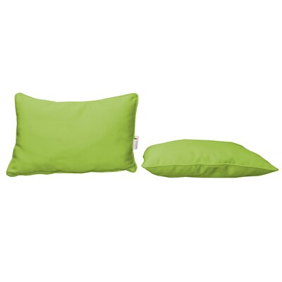 Outdoor Sunbrella Lumbar Pillow Color: Canvas Ginkgo
