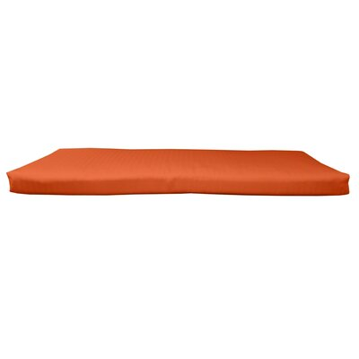 Outdoor Sunbrella Bench Cushion Size: 58 W x 18 D, Fabric: Canvas Melon