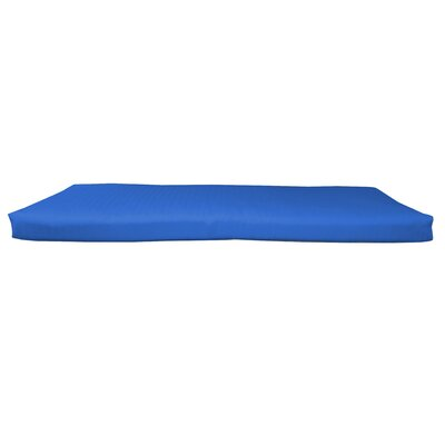 Outdoor Sunbrella Bench Cushion Size: 46 W x 18 D, Fabric: Canvas True Blue