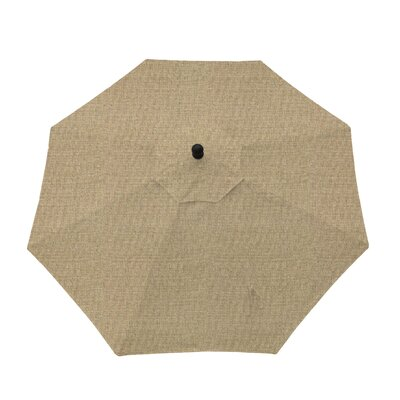 9ft Resort Market Umbrella Fabric: Sesame Linen