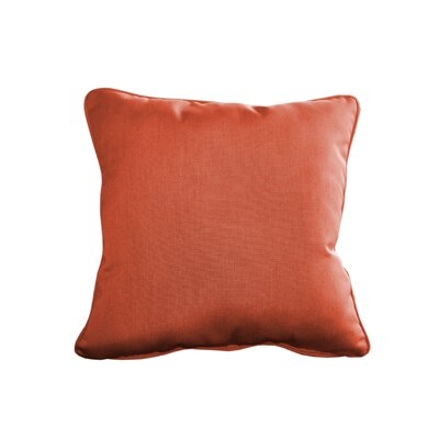 Outdoor Sunbrella Throw Pillow Size: 15 H x 15 W, Color: Canvas Melon