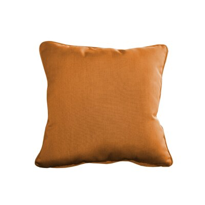 Outdoor Sunbrella Throw Pillow Size: 15 H x 15 W, Color: Canvas Tuscan
