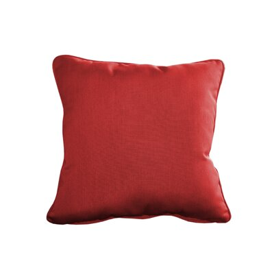 Outdoor Sunbrella Throw Pillow Size: 15 H x 15 W, Color: Canvas Jockey Red
