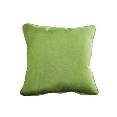 Outdoor Sunbrella Throw Pillow Size: 15 H x 15 W, Color: Canvas Ginkgo