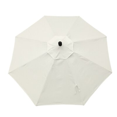 11 Resort Market Umbrella Fabric: White - Canvas Natural