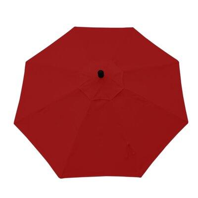 11 Resort Market Umbrella Fabric: Red - Canvas Jockey Red