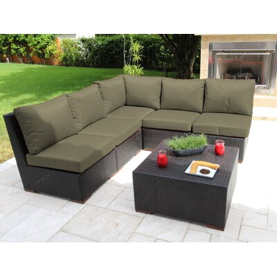 Scholtz 6 Piece Sectional Seating Group with Cushions Fabric: Gray - Spectrum Dove
