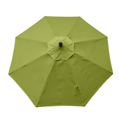 11 Resort Market Umbrella Fabric: Green - Canvas Ginkgo