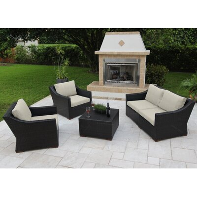 Marcelo 5 Piece Deep Seating Group with Cushions Fabric: Gray - Spectrum Dove