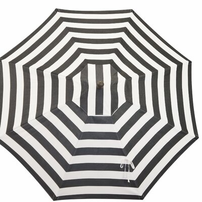 11 Resort Market Umbrella Fabric: Black and White - Cabana Classic