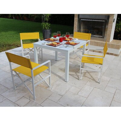 Oxford 5 Piece Dining Set Fabric: Yellow - Maize