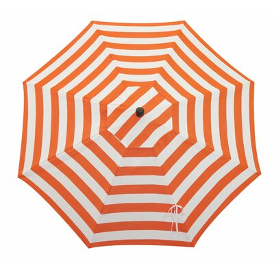 11 Resort Market Umbrella Fabric: Red and White - Cabana Flame