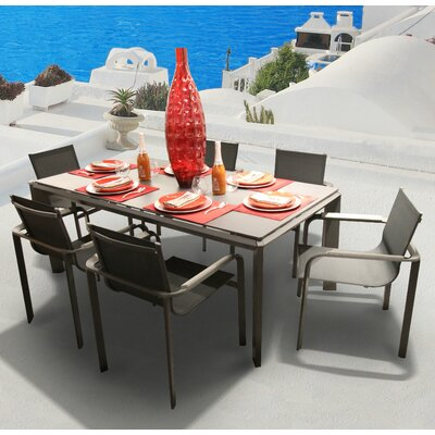 Parkalia Diagonal 7 Piece Dining Set