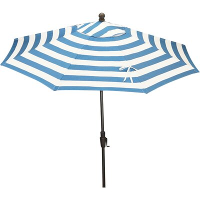 9 Resort Market Umbrella Fabric: Blue / White