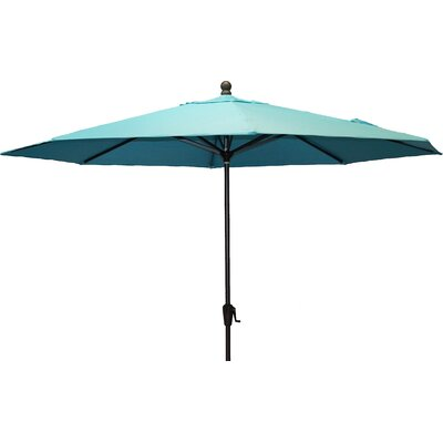 11 Resort Market Umbrella Fabric: Blue - Canvas Aruba