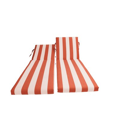 Outdoor Sunbrella Chaise Lounge Chair Cushion Fabric: Cabana Flame