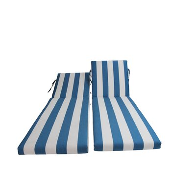 Outdoor Sunbrella Chaise Lounge Chair Cushion Fabric: Cabana Regatta