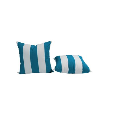 Outdoor Sunbrella Throw Pillow Size: 15 H x 15 W, Color: Cabana Regatta