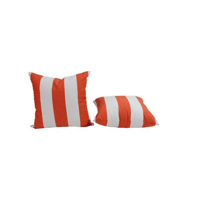 Outdoor Sunbrella Throw Pillow Size: 15 H x 15 W, Color: Cabana Flame