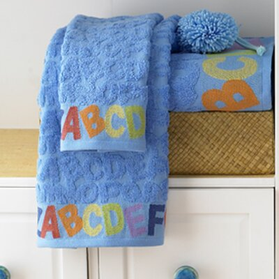 Bambini ABC 6 Piece Towel Set Color: Cool Blue