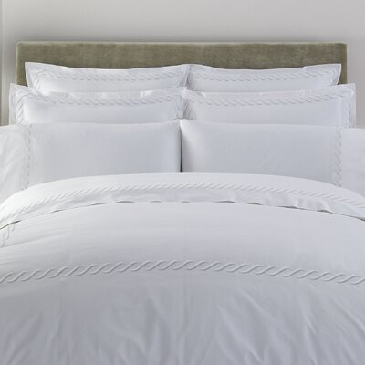 Letto Studio Bedding Cable 300 Thread Count 100% Cotton Sheet Set Size: Twin, Color: White