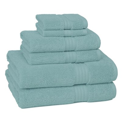 Nelle 6-Piece Towel Set Color: Aqua