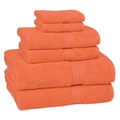 Nelle 6-Piece Towel Set Color: Blood Orange