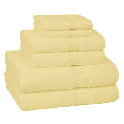 Nelle 6-Piece Towel Set Color: Pineapple