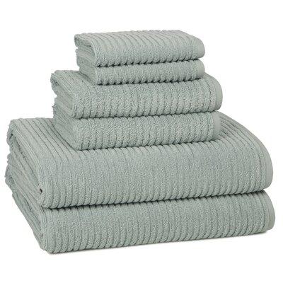 Urbane Turkish Cotton 6 Piece Towel Set Color: Spa Blue