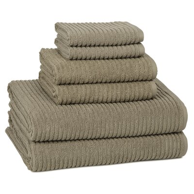 Lynn 6-Piece Towel Set Color: Graphite