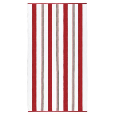 Spiaggia Cabana Beach Towel Color: Red