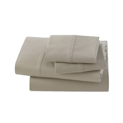 Letto Studio Bedding 300 Thread Count 100% Cotton Sheet Set Size: Twin, Color: Sandstone