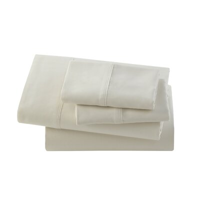 Letto Studio Bedding 300 Thread Count 100% Cotton Sheet Set Size: Twin, Color: Ivory