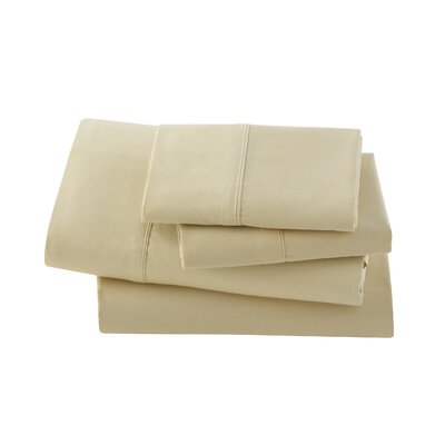 Letto Basics Pillow Case Size: Standard, Color: Gold
