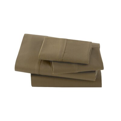 Letto Basics Pillow Case Size: Queen, Color: Brown