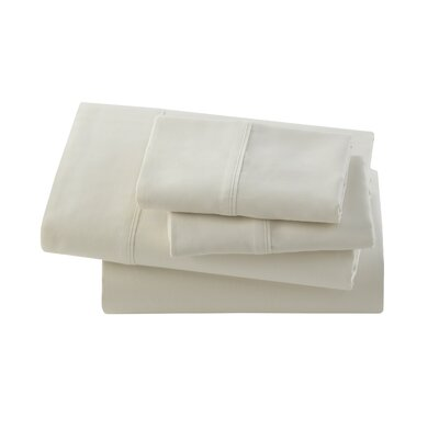 Letto Basics Pillow Case Size: Queen, Color: Ivory