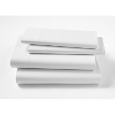 Lisse 300 Thread Count Sheet Shet Size: King, Color: White