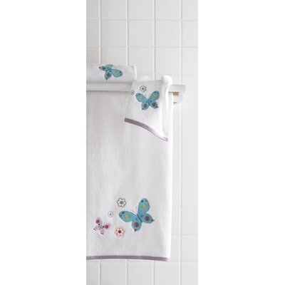 Bambini Butterflies Embroidered 6 Piece Towel Set