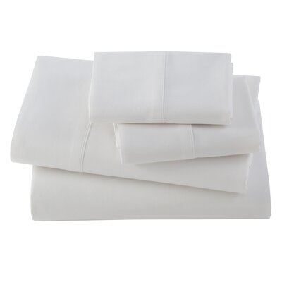 Letto Studio Bedding 300 Thread Count 100% Cotton Sheet Set Size: Full, Color: White