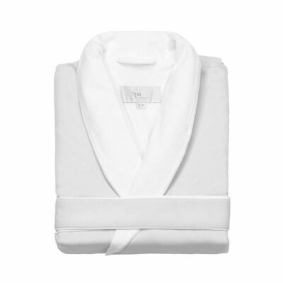 Spa Bath Robe Size: Small / Medium, Color: White