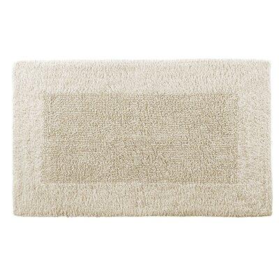 Cotton/Rayon Bath Mat Size: 21 x 34, Color: Ecru