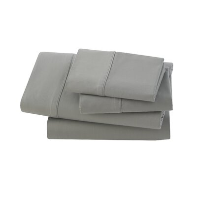 Rayon from Bamboo 300 Thread Count Sheet Set Size: King, Color: Grey