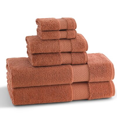 Elegance 6 Piece Towel Set Color: Cayanne