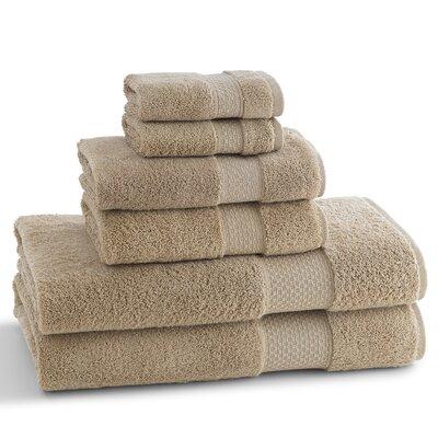 Elegance 6 Piece Towel Set Color: Desert Sand