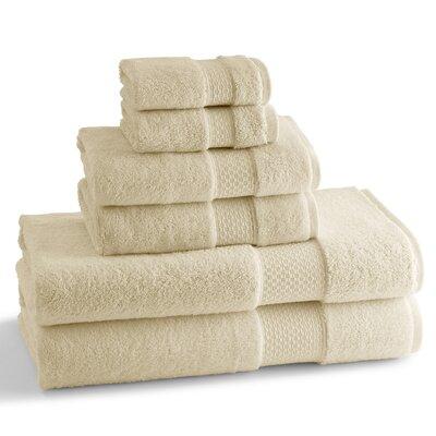 Elegance 6 Piece Towel Set Color: Ivory