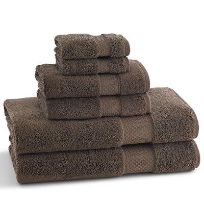 Elegance 6 Piece Towel Set Color: Chocolate