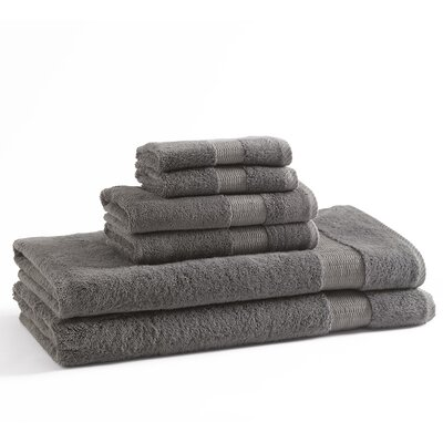 6 Piece Towel Set Color: Grey